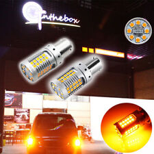 2x No Hyper Flash CAN-bus Amber 1156 P21W 7507 3030 LED Turn Signal Lights Bulbs