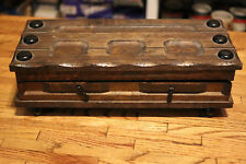 Vintage Older Antique Looking Asian Style Wooden Jewlery Box Trinket Box 14x6x4