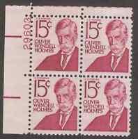US. 1288. 15c. Holmes. PB4 #29603 UL. MNH. 1968