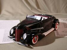 Danbury 1936 Ford Hot Rod Deluxe Cabriolet Convertible  Black *Mint in Box*