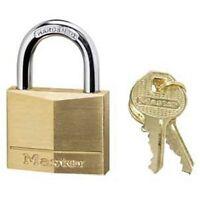 Master Lock 140D Solid Brass Keyed Different Padlock