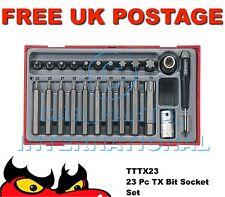 Teng Tools TTTX23 TX Bit Socket Set 23 Piece + tray box torx