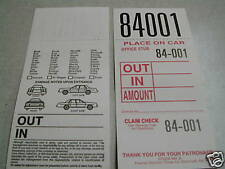 Valet Parking Tickets -Box of 1000