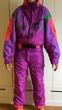 NEVICA Survival Vintage original ski suit fuchsia neon apres ski 1980's UK 40 M