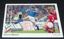MANCINI SAMPDORIA ITALIA FOOTBALL CARD UPPER DECK USA 94 PANINI 1994 WM94