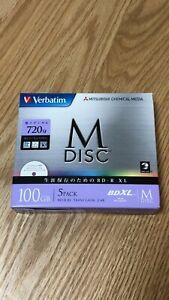 Mitsubishi Verbatim Bluray  M-DISC BD-R XL 100GB 4x Speed DBR100YMDP5V1 5pcs