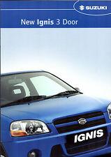 SUZUKI IGNIS 3-dr 1.3 GL 2004 UK Opuscolo Vendite sul mercato