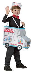 Swirlys Ice Cream Truck Child Costume Shoulder Straps Tunic Halloween Dress Up