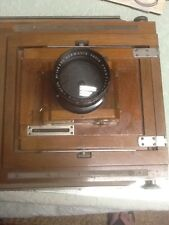 ANTIQUE FRANCE HERMAGIS PARIS 4,5 F-270mm ANASTIGMAT WOODEN CAMERA