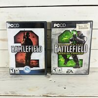 Battlefield 2 + Expansion Pack Special Forces PC CD-ROM Software Game Lot