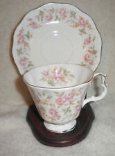 Royal Albert Rose Chintz Cup & Saucer Pink Brocade