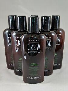 6x 3-In-1 Tea Tree Shampoo & Conditioner & Body Wash by American Crew - 8.4 oz