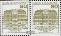 BRD (BR.Deutschland) 1140C I-1140D I (kompl.Ausgabe) gestempelt 1982 Burgen und