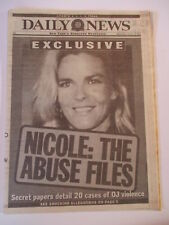OJ SIMSON NICOLE THE ABUSE FILES NEW YORK DAILY NEWS NEWSPAPER 1/11 1995 NHL