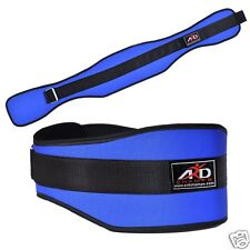 ARD WEIGHT LIFTING BELT GYM WORKOUT POWER LIFTING BACK SUPPORT BLUE LARGE