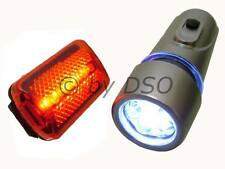 FRONT AND REAR BICYCLE BIKE LAMP LIGHT SET - UK STOCK FAST DISPATCH
