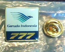 Garuda Indonesia Airlines Blue Boeing 777 Airplane Lapel Pin Vintage 2013 Blue