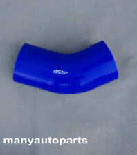 Blue 4 inch 102mm Silicone Hose 45 degree Bend Elbow Silicon Intake Tube pipe