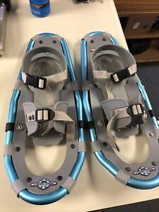 """#4 LL Bean Blue Winter Walker size 19"""" Snowshoes-"""