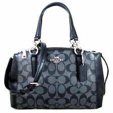 NWT Coach Christie Mini Signature Black Leather Satchel 58290