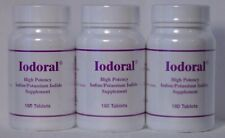 Iodoral 12.5 mg Tablet #180 THREE BOTTLES potassium iodide iodine Optimox