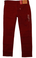NWT Mens Levi's 514 Classic Straight Leg Tomato Red Stretch Jeans (005140798)