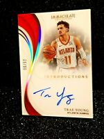 2018-19 Trae Young Immaculate Introductions On Card Rookie Auto RC /99 Autograph