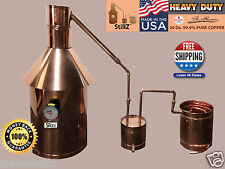 StillZ 10 Gallon - Heavy Duty Copper Moonshine Still+Thumper+Worm 100% Guarantee