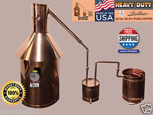 Moonshine Still 10 Gallon - StillZ Heavy Duty Copper Still+Thumper+Worm