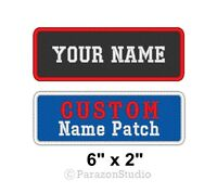 """Custom Embroidered Name Tag Sew on Patch Motorcycle Biker Badges 6"""" x 2"""" (A)"""