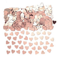 14g Rose Gold Heart Confetti Sprinkles Wedding Party Table Scatter Decorations