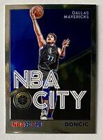 Luka Doncic 2019-20 NBA Hoops Premium Stock #30 NBA City Silver Prizm Holo