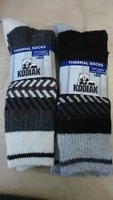 KODIAK MEN'S THERMAL SOCKS 4 SOCKS SIZE 7-12 GRAY AND BLACK NEW