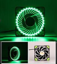 Solar Eclipse Green LED Fan For Computer Case DC 12V 120mm 120x120x25mm 12CM