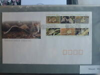 AUSTRALIA 1992 THREATENED SPECIES ANIMALS BLK 6 STAMPS FDC FIRST DAY COVER