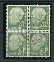 BRD Heuss Mi-Nr. 193x Viererblock - 4er Block - gestempelt - Mi. 300,-