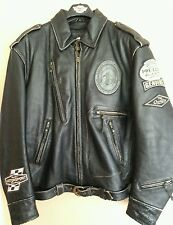 Harley davidson mens Motorcruise  leather jacket vtg distress 97068-04VM RARE XL