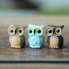 Resin Mini Owl Figurine Miniature Dollhouse Plant Plots Fairy Garden Ornament SS