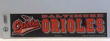 Baltimore Orioles Bumper Sticker/Strip (Major League Baseball) Vintage