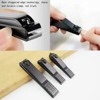 1 PC Black Stainless Steel Nail Clipper Cutter Professional Manicure Trimme N7A9