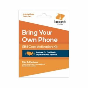 NEW SIM card kit Supports all PHONES Boost Mobile iPhone Samsung Galaxy
