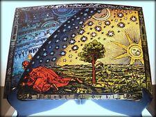 Flammarion grabado 1888 tierra plana firmamento arte cartel impresión (350gsm) A3 Tamaño
