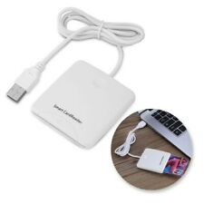 Credit Card Reader Usb Smart Chip Encoder Writer Magnetic Stripe Swipe White