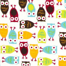 """SHANNON """"RKC NIGHT OWLS CUDDLE"""" Red Mango by the Fat Half (1/2 yard)"""