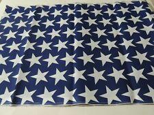 White Stars on Blue Background Fabric~17