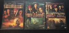 Pirates Of The Caribbean 1-3 Dvd Trilogy Lot Disney Movies