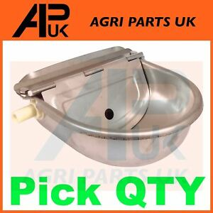 QTY Stainless Steel Water Trough Bowl Automatic Drinking Drinker Cow Pig Pony