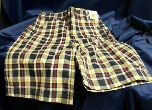 Gymboree Adjustable Waist Plaid Shorts Size 12 W/Tags