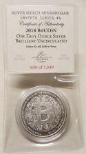 1oz Silver Shield Bitcoin BU Silver Round Coin #1 Crytpto Series Cryptocurrency
