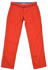 El Ganso for Womens Chinos Size UK-12 USA-8 Light Red Trousers Pants Tapered Fit